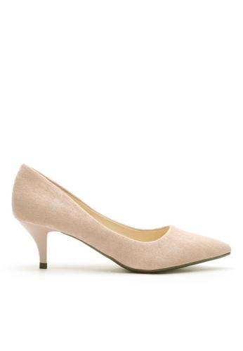 Twenty Eight Shoes 5CM尖頭絨面高踭鞋 292-11 82E68SH714FFF6GS_1