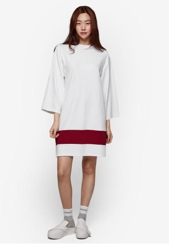 簡約單條紋連身裙, esprit 台灣服飾, 洋裝