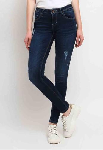 C2 Outfitters navy Zipora Blue Jeans Ultra Slim Basic Medium Waist DE2F8AA5719E82GS_1