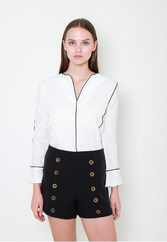 Leline Style white Aspen Blouse FDB2CAAA2022AAGS_1