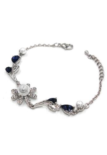 midzone silver TYON Korea Shinny Rhinestone Crystal Alloy Bracelet MI949AC0RQKHMY_1