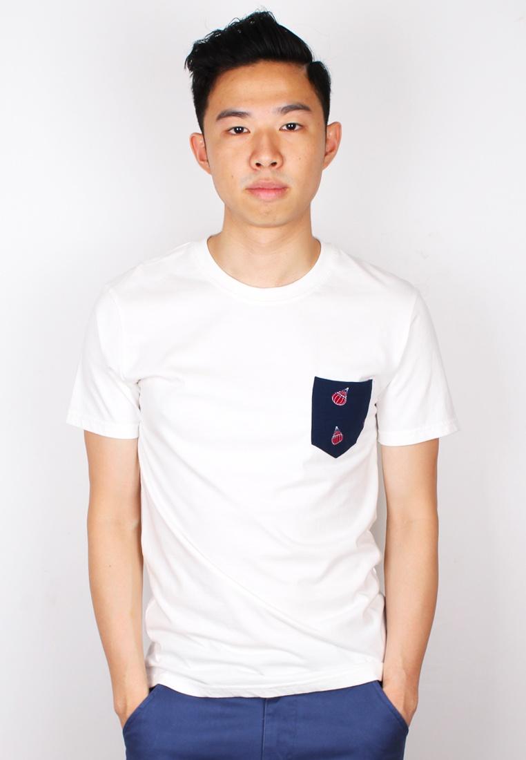 Print T Moley Balloon Air shirt White Pocket vap8BBU