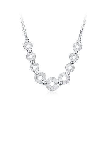 Glamorousky silver Fashion Simple Geometric Round Necklace 48768AC54F694DGS_1