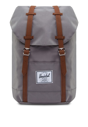 Herschel grey and brown Retreat Backpack HE305AC93OMOSG_1