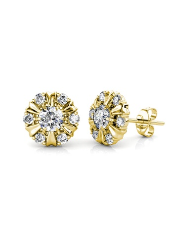 Her Jewellery gold Sun Petal Earrings (Yellow Gold) - Made with premium grade crystals from Austria A82B6ACEAF8EABGS_1