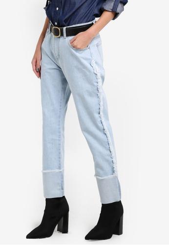 Something Borrowed blue Raw Edge Boyfriend Jeans B4BCEZZ82951B8GS_1