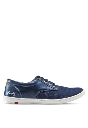 Louis Cuppers blue Basic Canvas Sneakers LO977SH84ZJNMY_1