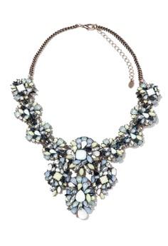 Colored Stone Florette Necklace