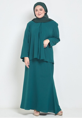 CURVA FABULOUS green Ms Seri Minimalist Kurung 4AA89AA467B203GS_1