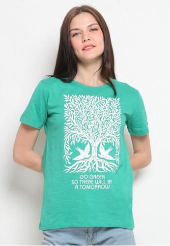 Coconut Island green Coconut Island Women Haritage Tee AWRT063 G1 Green 314ECAADC1C16AGS_1