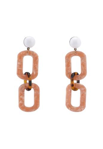 NA-KD 粉紅色 鍊條耳環 3D118AC0552A53GS_1