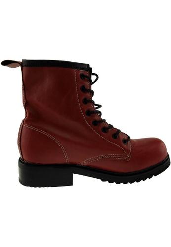 Maxstar red Maxstar Women's 303 Lace Up Mid Calf PU Combat Boots US Women Size MA164SH78QSFSG_1