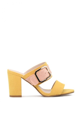 6dfcc0707bb London Rag yellow Strappy Dual Tone Block Heeled Sandals 4DDBBSH58DF1AFGS 1