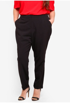 ebe99a8cd1 Dorothy Perkins black Plus Size Straight Black Trousers C73B8AAC01368AGS 1