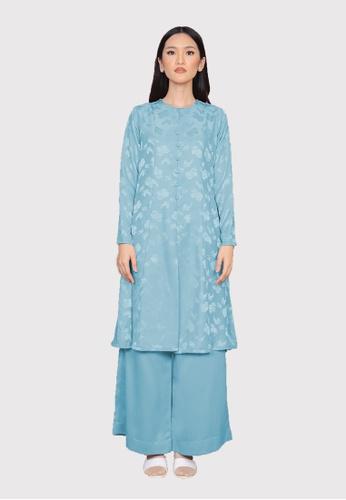 LosraVelda blue Naina Top and Pants 72D21AABB2E3A7GS_1