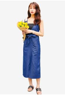 e3ed7af3feb Denim Midi Dress With Belt 1CEA2AAF5674CEGS 1