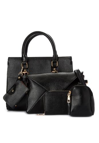 Treasure by B & D black 5 in 1 Fashion Bag Set TR022AC0K5KPPH_1