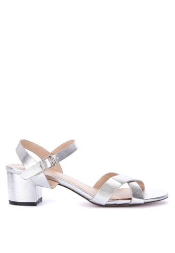 f1a1023c61e Shop CLN Sunstone Metallic Two Strap Low Heel Sandals Online on ZALORA  Philippines