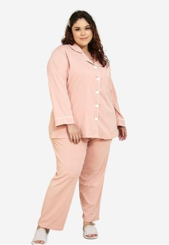 CURVA FABULOUS 粉紅色 Premium Cotton Pyjamas B0169AAAC5286EGS_1