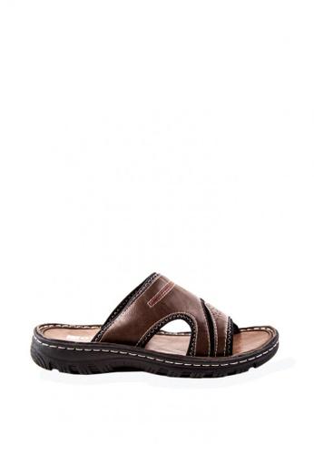 Otto brown Slide Sandals OT407SH0JZPFPH_1