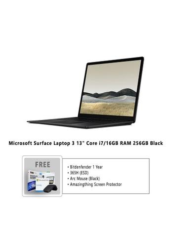 "Microsoft black Microsoft Surface Laptop 3 13"" Core i7/16GB RAM - 256GB Black - VEF-00037 + Bitdefender 1 Year Internet Security + Microsoft 365 Family (ESD) + Arc Mouse Black + Amazingthing Screen Protector 7E9E6HL465D978GS_1"
