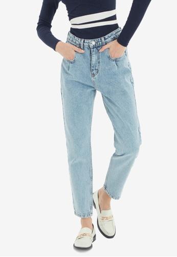 Trendyol blue High Waist Mom Jeans D9996AA346FD62GS_1