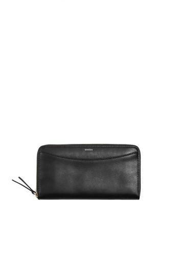 SKAGEN black Skagen Accordian - Leather - Zip Wallet - Dompet Skagen Wanita - SWS0219001 B94FBAC5B7CAA0GS_1