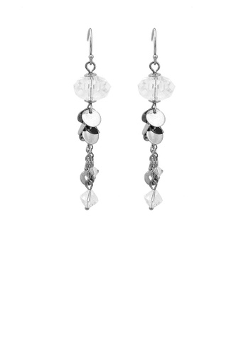 Glamorousky silver Glaring Earrings with Silver Austrian Element Crystal BB557AC3FD2030GS_1
