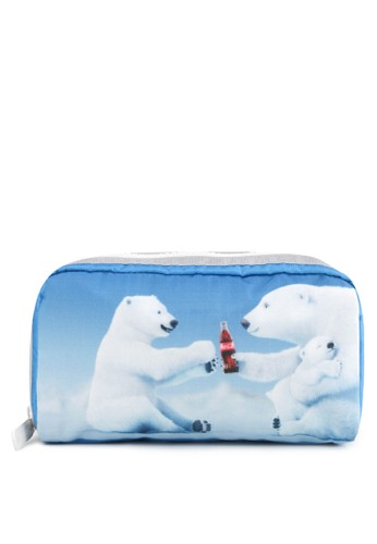 LeSportsac white and blue Rectangular Cosmetic C4E13AC6B34D02GS_1