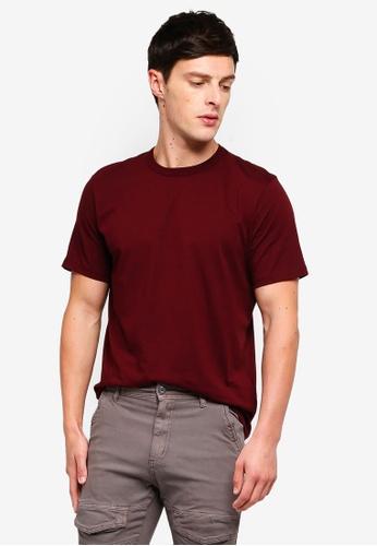 Topman 紅色 Burgundy Classic T-Shirt 1C311AAE05E0B7GS_1