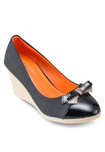 蝴esprit地址蝶結圓頭楔型鞋, 韓系時尚, 梳妝