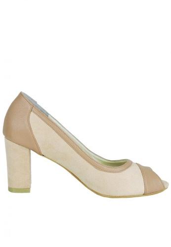 Jacque beige Bliss Suede Nude Heels JA262SH29WIGMY_1