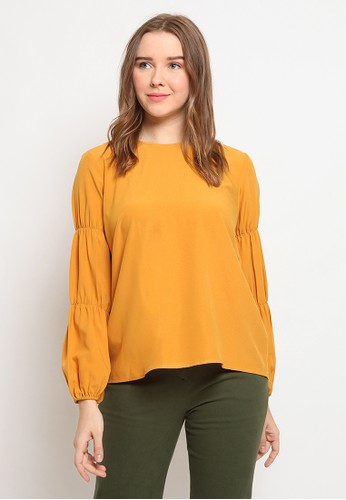 The Executive yellow Pull Sleeves Top 25FD2AA944BD5DGS_1