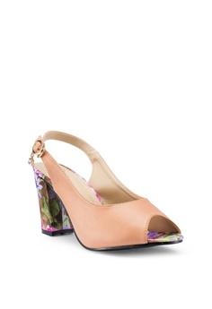edcae40e83f9e Berrybenka Narra Decha Heels RM 169.00. Sizes 36 37 38 39 40 · DMK brown Ankle  Strap Glitter Heel Sandals C7C33SH09D7557GS 1