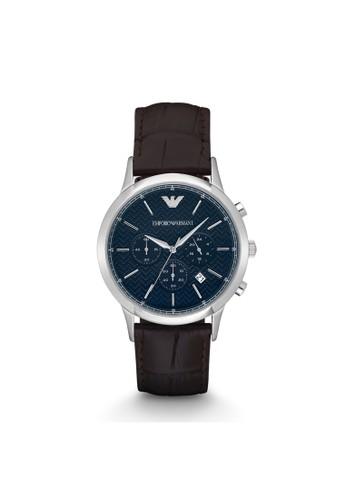 Emporio Armani RENAesprit 見工TO經典系列腕錶 AR2494, 錶類, 紳士錶