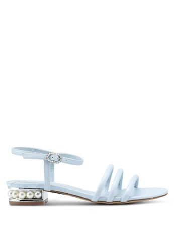 VINCCI blue Strappy Heels D9B6FSHACDE521GS_1