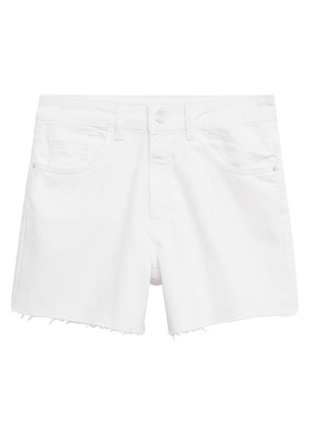 MANGO KIDS white Denim Shorts 4B50CKA2B65878GS_1