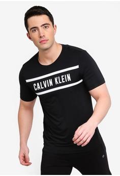 93198e3b0f9cc Calvin Klein black Logo Panel Short Sleeve Tee - Calvin Klein Performance  DE10DAA0FCBA4DGS 1