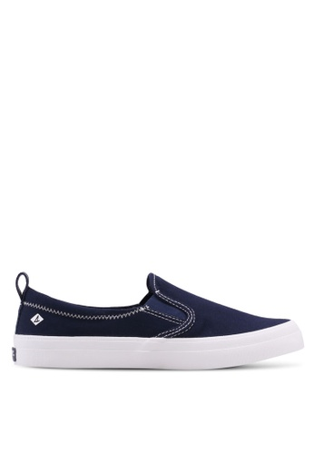 Sperry navy A8 Crest Twin Gore Slip Ons 78D95SHA01C12EGS_1