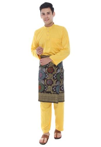 Amar Amran yellow Baju Melayu Classic 53F44AAE1889FEGS_1