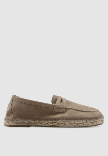 e39acbf3885 Buy Selected Homme SLHAJO Penny Suede Espadrilles Online on ZALORA ...