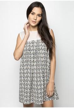 Mesh Pleated Dress