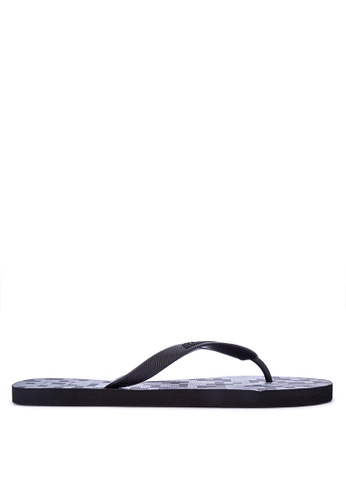 Penshoppe black Rubber Flip Flops 97C75SHF47F92EGS_1