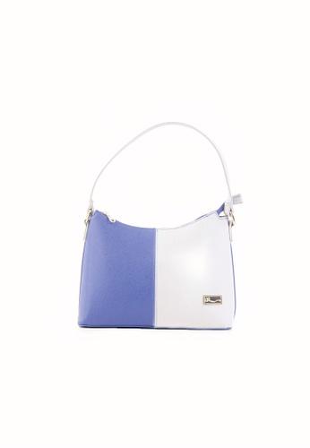 AR by Alfio Raldo blue AR By Alfio Raldo AB-2292 Shoulder Bag Blue/Grey AR107AC0RURVMY_1