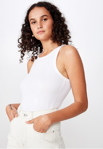 Cotton On white The Turn Back Tank 9C331AA8F76BE2GS_1