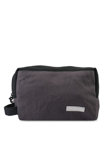 Jack & Jones black and grey Vance Toiletry Bag 30666AC15F0BAFGS_1
