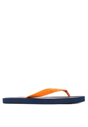 BENCH blue Printed Rubber Slippers BE550SH05MBIPH_1