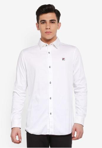 FILA white Ginny Plain Shirt 3F2FCAA0E43D5EGS_1