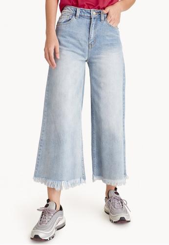 Pomelo blue Cropped Culotte Denim Jeans DAF6DAAD23D273GS_1