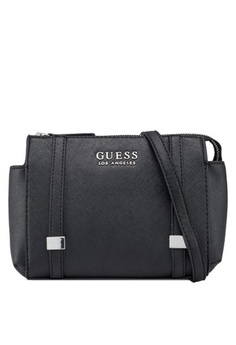 4731d3dd2b35f Psst... we have already received your request. Guess. Nash Cross Body Top  Zip Bag
